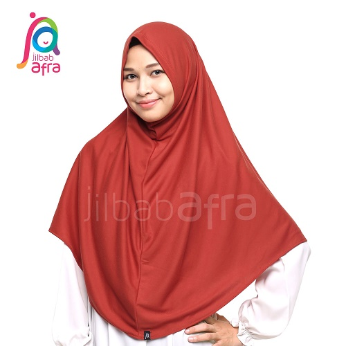 JilbabAfra Syifa Merah Bata JAS-27 – Garasi Salwa